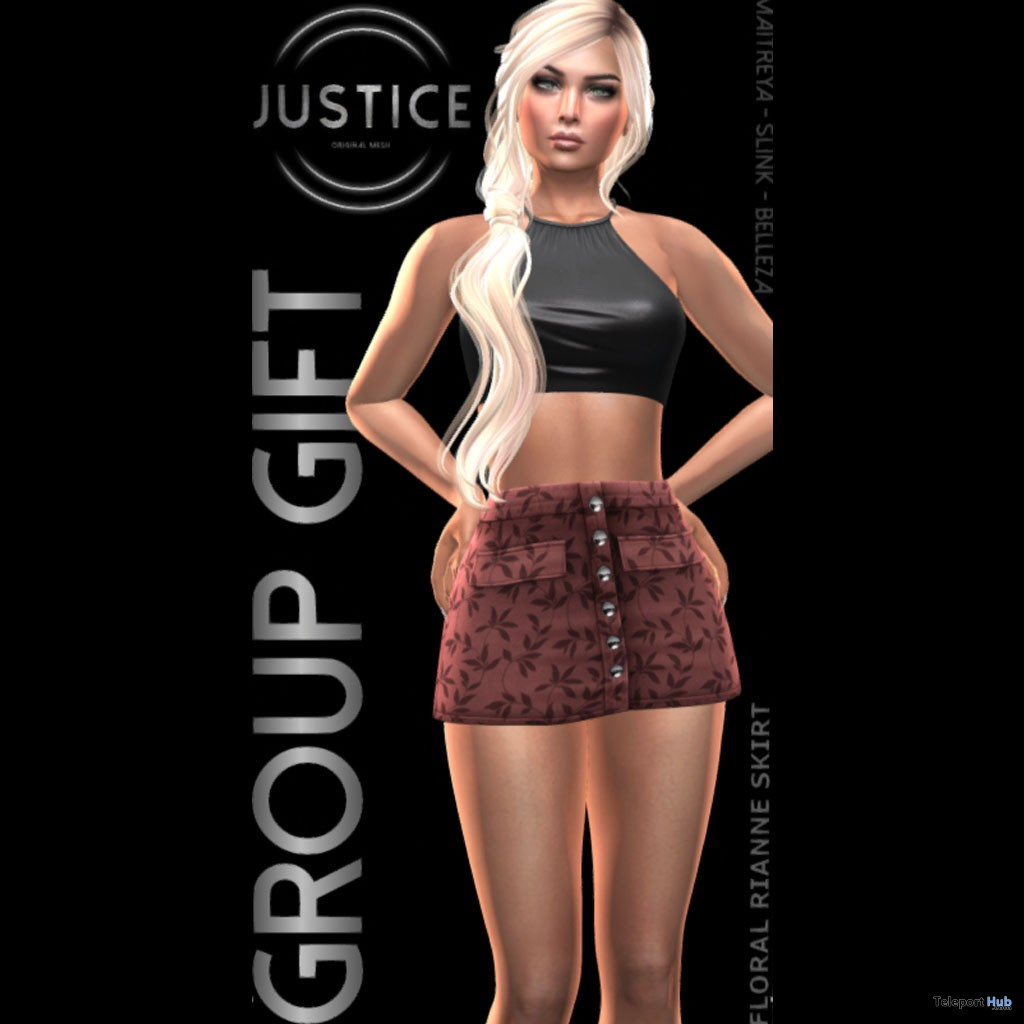 Reianne Skirt May 2018 Group Gift by JUSTICE - Teleport Hub - teleporthub.com