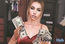 Baddie Bento Pose With Mesh Money Prop Gift by !R.O! - Teleport Hub - teleporthub.com