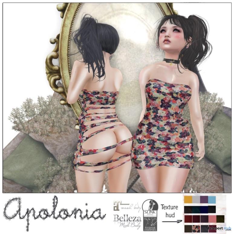 Apolonia Dress May 2018 Group Gift by Luas - Teleport Hub - teleporthub.com