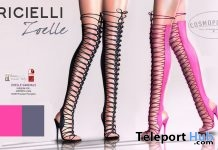 Zoelle Over The Knee Heels Black & Pink 1L Promo Gift by R.icielli - Teleport Hub - teleporthub.com