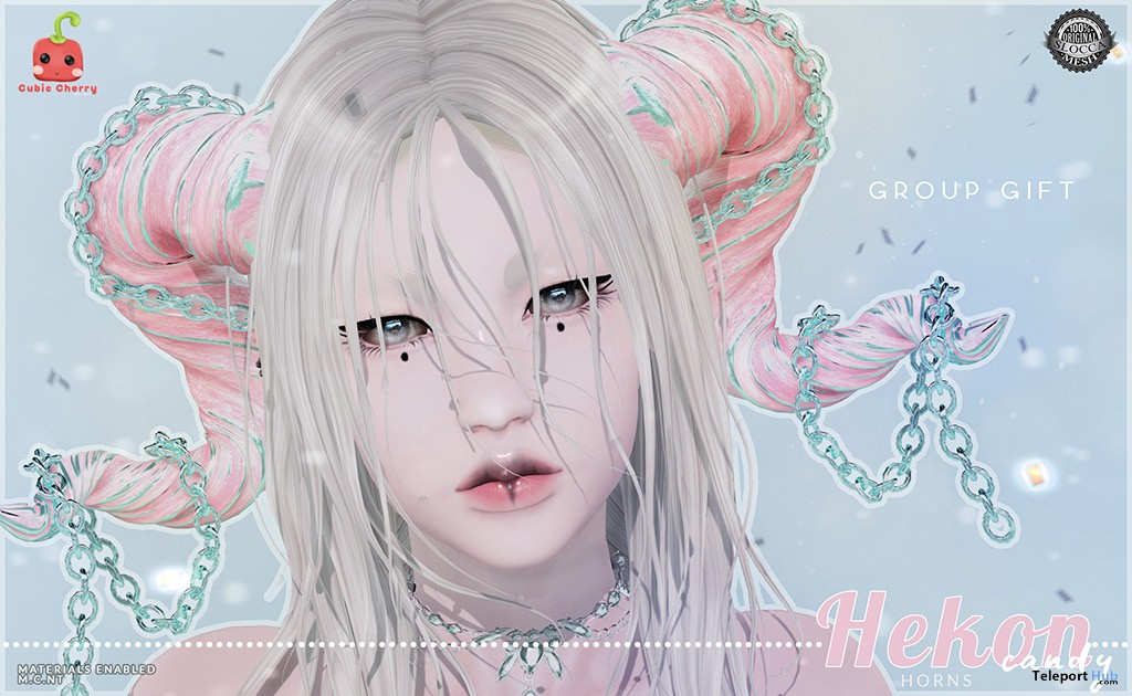 Hekon Horns Candy June 2018 Group Gift by Cubic Cherry - Teleport Hub - teleporthub.com