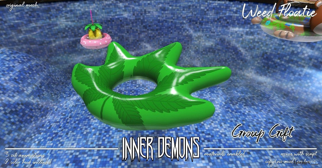 Weed Floatie June 2018 Group Gift by Inner Demons - Teleport Hub - teleporthub.com