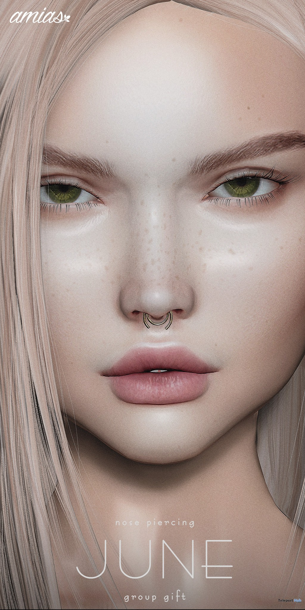 Nose Piercing June 2018 Group Gift by amias - Teleport Hub - teleporthub.com