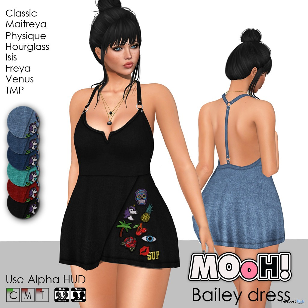 Bailey Dress Fatpack June 2018 Group Gift by MOoH! - Teleport Hub - teleporthub.com