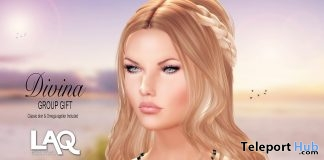 Divina Skin With Omega Applier June 2018 Group Gift by WOW Skins - Teleport Hub - teleporthub.com