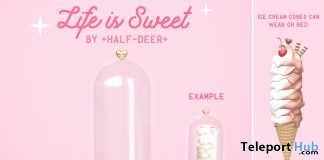 Life is Sweet Ice Cream Display Dome June 2018 Gift by Half-Deer - Teleport Hub - teleporthub.com