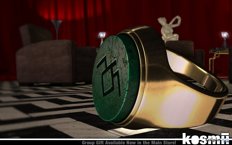Black Lodge Ring June 2018 Group Gift by kosmii - Teleport Hub - teleporthub.com