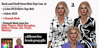 Rock and Droll Dress Coat June 2018 Group Gift by AmAzIng CrEaTiOnS - Teleport Hub - teleporthub.com