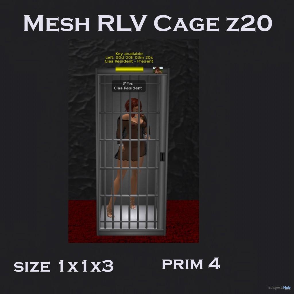 Mesh RLV Cage z20 June 2018 Group Gift by CR Design - Teleport Hub - teleporthub.com