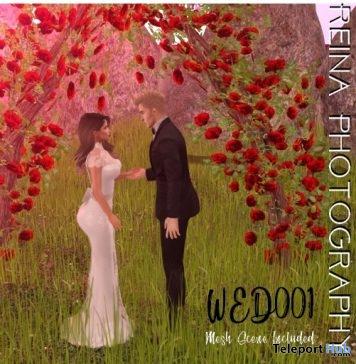 Wedding Pose WED001 With Mesh Scene June 2018 Gift by Reina Photography - Teleport Hub - teleporthub.com