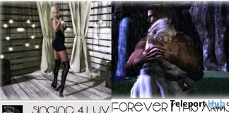 Forever in His Arms Couple Pose & Singing 4 Luv Single Pose June 2018 Group Gift by Something New - Teleport Hub - teleporthub.com