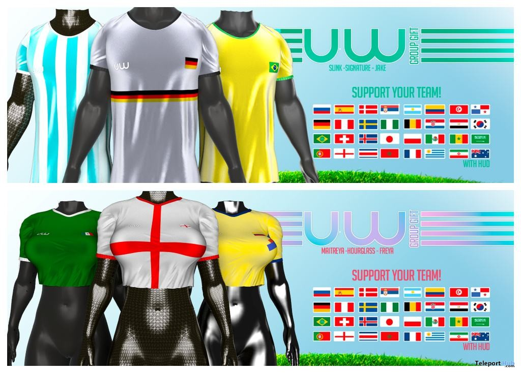 World Shirt For Men & Women June 2018 Group Gift by Uniwaii - Teleport Hub - teleporthub.com