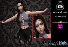Arrow Of Love Face Tattoo Omega Applier June 2018 Gift by [INK] Tattoo - Teleport Hub - teleporthub.com