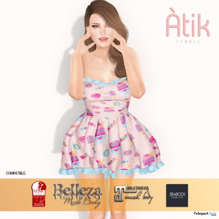Lolita Dress June 2018 Group Gift by Atik - Teleport Hub - teleporthub.com