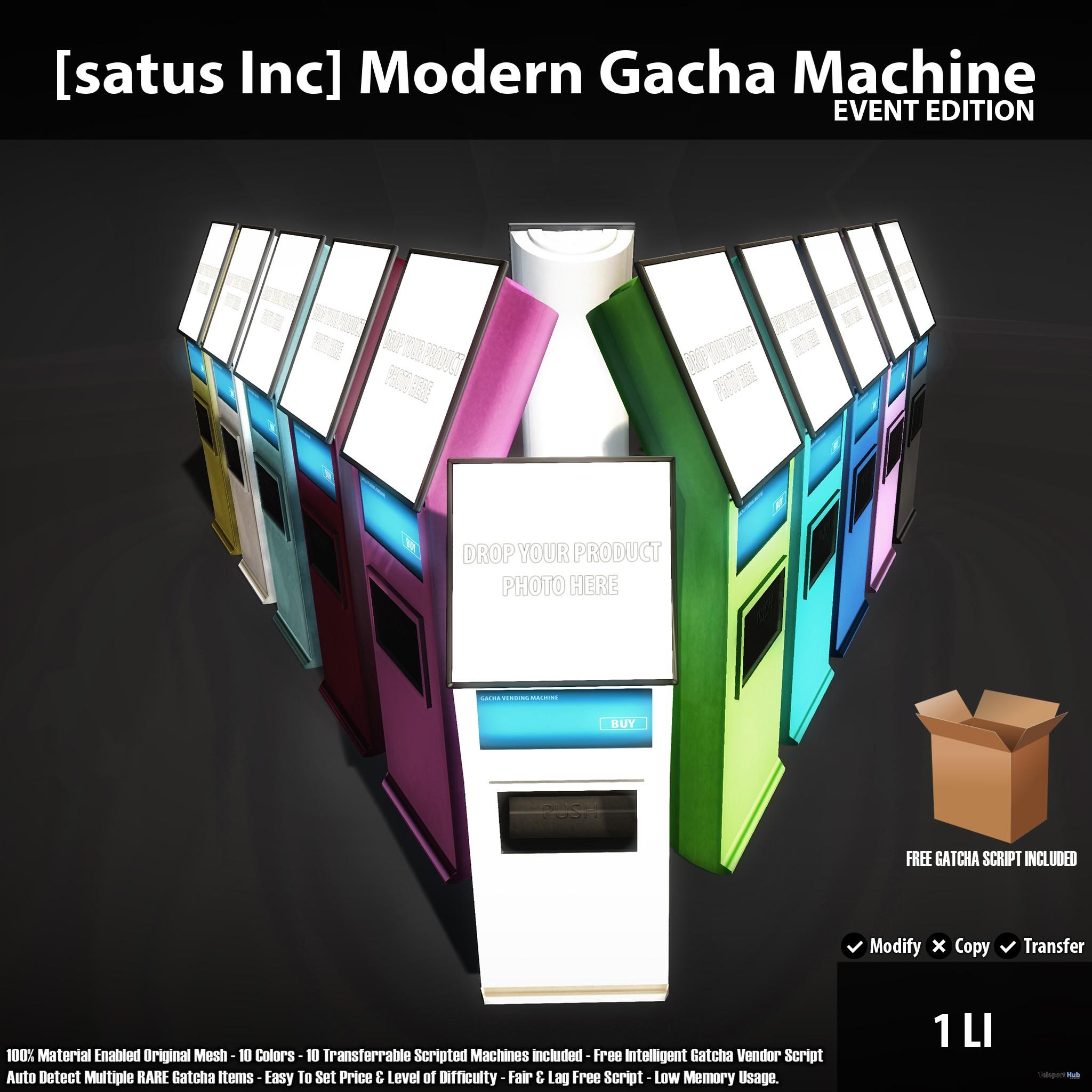 New Release: Modern Gacha Machine Store & Event Editions by [satus Inc] - Teleport Hub - teleporthub.com