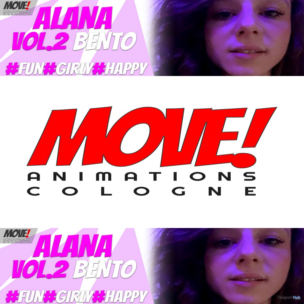 New Release: Alana Vol 2 Bento Dance Pack by MOVE! Animations Cologne - Teleport Hub - teleporthub.com
