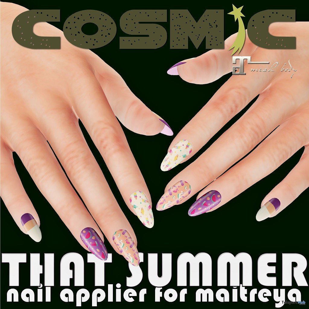 That Summer Nail Applier June 2018 Group Gift by COSMiC - Teleport Hub - teleporthub.com