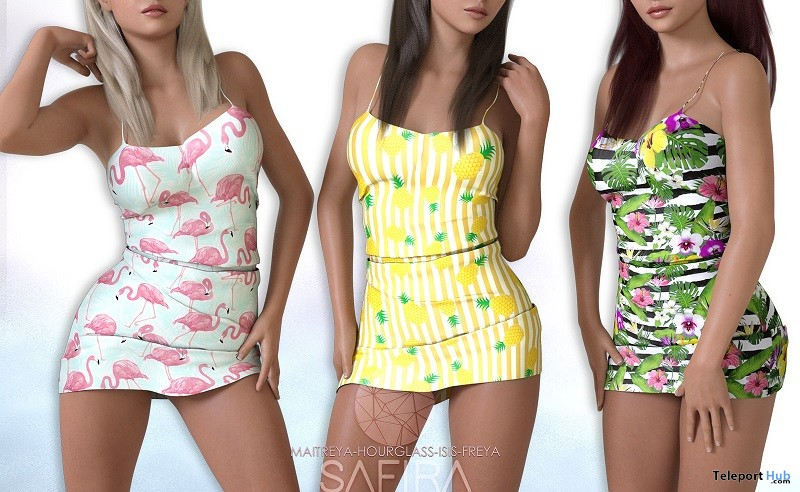 Summer Dress July 2018 Group Gift by Safira - Teleport Hub - teleporthub.com