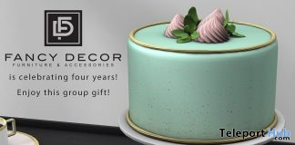 Mint Cake 4th Anniversary July 2018 Group Gift by Fancy Decor - Teleport Hub - teleporthub.com