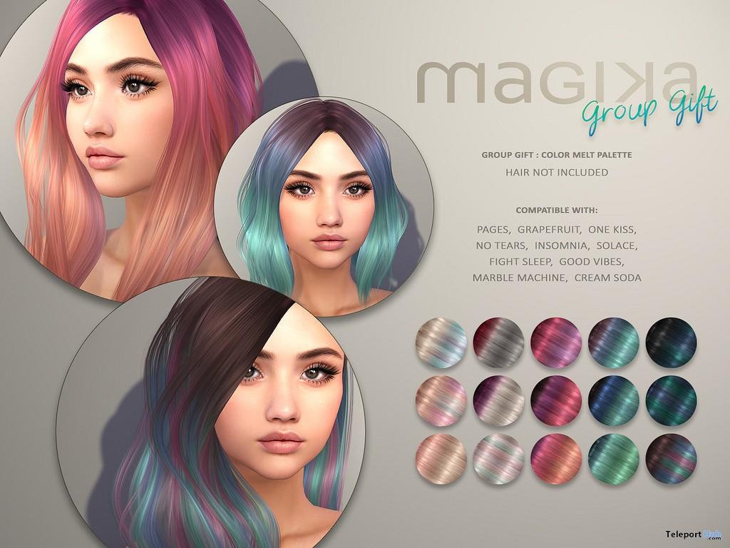 Color Melt Palette HUD July 2018 Group Gift by Magika - Teleport Hub - teleporthub.com