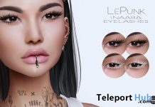 Inaara Eyelashes Applier For Catwa Head July 2018 Group Gift by LePunk - Teleport Hub - teleporthub.com