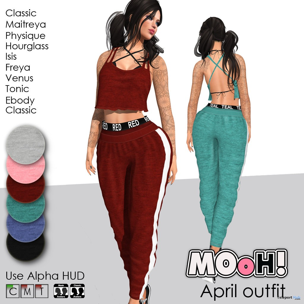 Sporty Outfit Fatpack July 2018 Group Gift by MOoH! - Teleport Hub - teleporthub.com