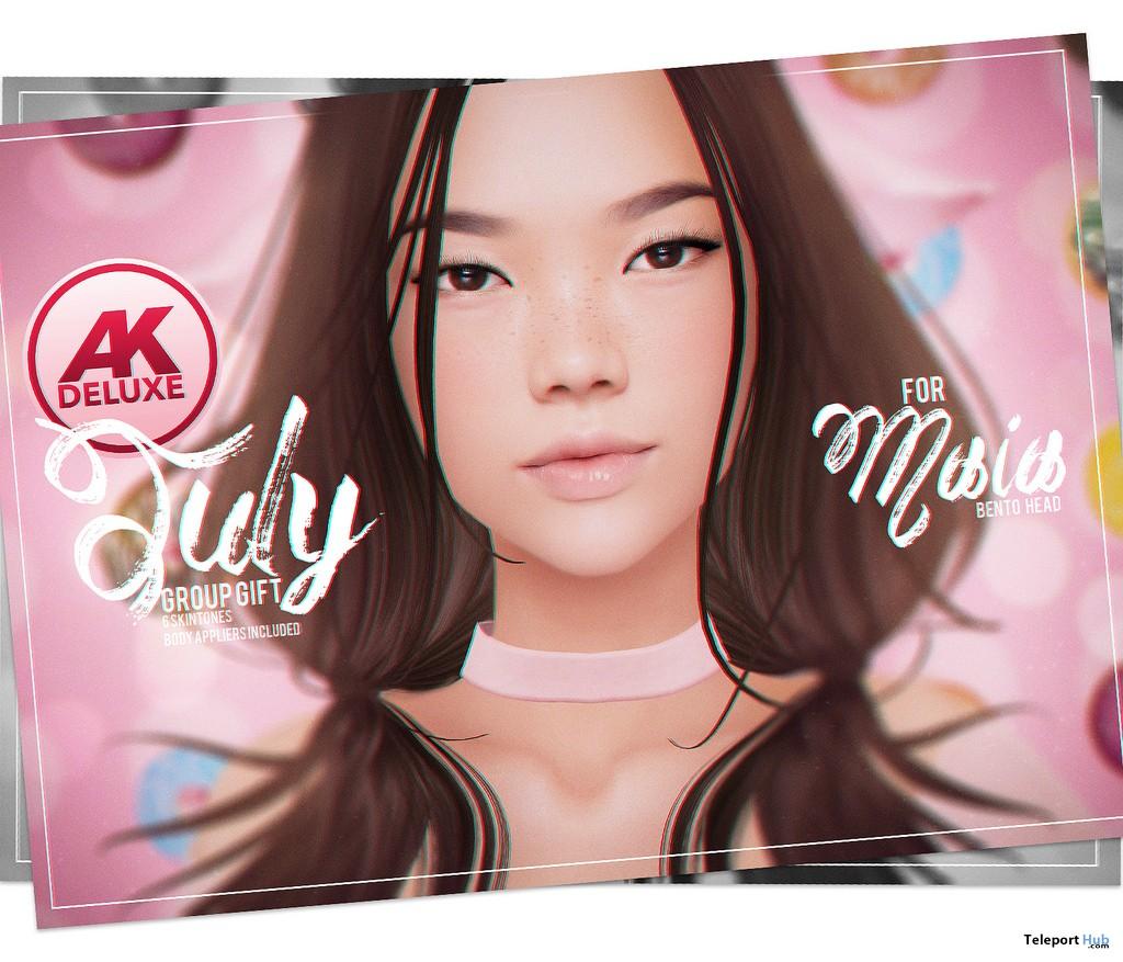 Kimi Skin Applier Fatpack For Akeruka Maia Bento Head July 2018 Group Gift by PUMEC - Teleport Hub - teleporthub.com