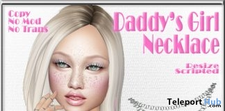 Daddy's Girl Necklace July 2018 Subscriber Gift by Sweet Evil - Teleport Hub - teleporthub.com