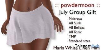 Marla White Linen Skirt July 2018 Group Gift by powdermoon - Teleport Hub - teleporthub.com