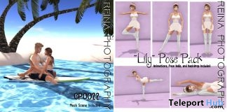 Lily Single Pose Pack & Couples Pose With Backdrop July 2018 Gift by Reina Photography - Teleport Hub - teleporthub.com