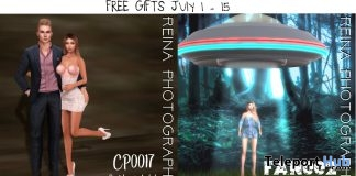 Couple Pose & Single UFO Female Pose With Backdrops July 2018 Gift by Reina Photography - Teleport Hub - teleporthub.com