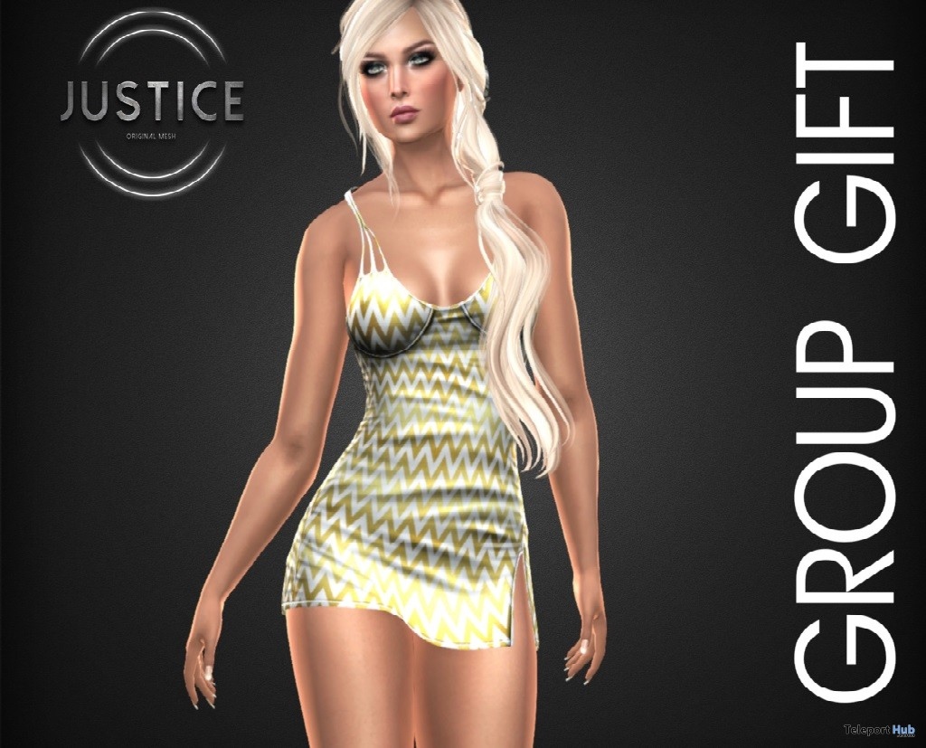 Scarlett Dress July 2018 Group Gift by JUSTICE - Teleport Hub - teleporthub.com