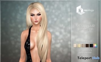 Butterfly 168 Bento Rigged Hair 1L Promo Gift by rezology - Teleport Hub - teleporthub.com