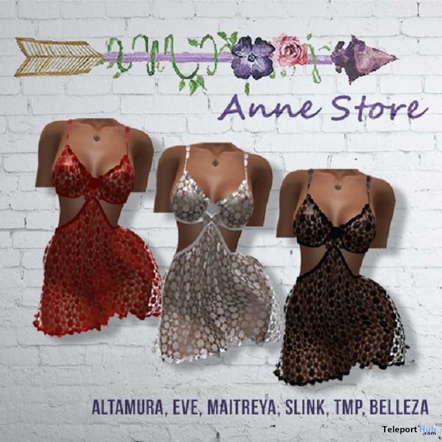 Lola Crochet Dress August 2018 Group Gift by Anne Store - Teleport Hub - teleporthub.com