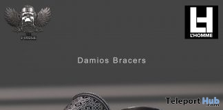 Damios Bracers L'HOMME Magazine August 2018 Group Gift by The Forge - Teleport Hub - teleporthub.com