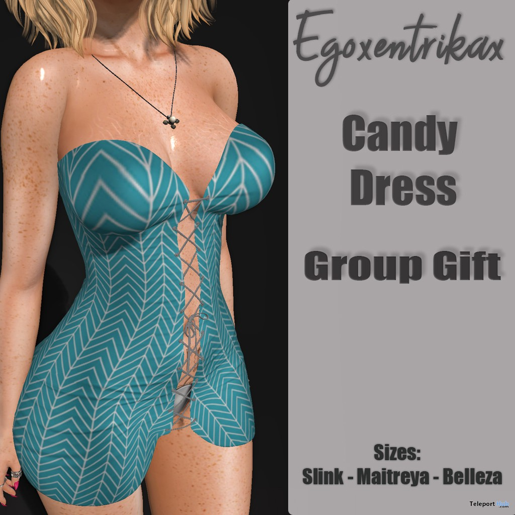 Candy Dress August 2018 Group Gift by Egoxentrikax - Teleport Hub - teleporthub.com