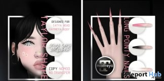 Taylor Shape & Long Pointy Nails July & August 2018 Group Gift by Mug - Teleport Hub - teleporthub.com