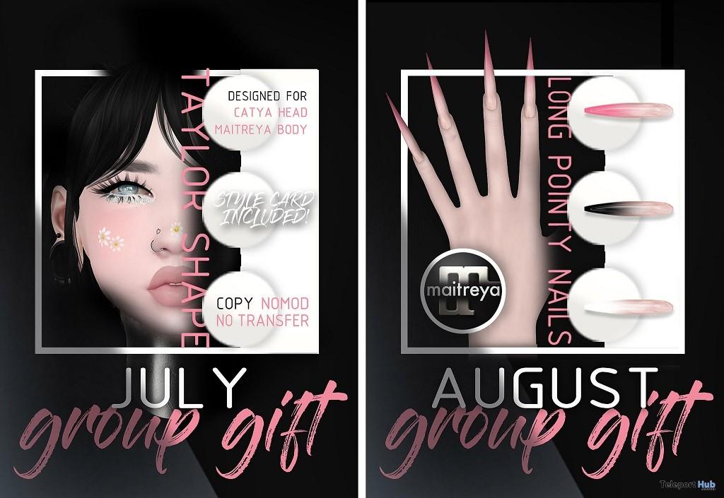 Taylor Shape & Long Pointy Nails July & August 2018 Group Gift by Mug - Teleport Hub - teleporthub.com