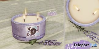 Lavender Candle August 2018 Group Gift by Ariskea - Teleport Hub - teleporthub.com