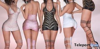 New Release: Diamande Mini Dress by SCANDALIZE @ Shiny Shabby August 2018 - Teleport Hub - teleporthub.com