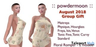 Floral Romper August 2018 Group Gift by powdermoon - Teleport Hub - teleporthub.com