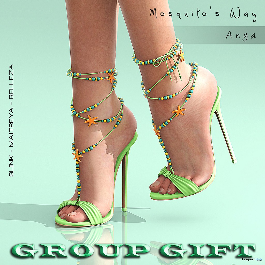 Anya Heels August 2018 Group Gift by Mosquito's Way - Teleport Hub - teleporthub.com