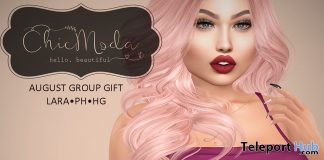 Pink Top August 2018 Group Gift by ChicModa - Teleport Hub - teleporthub.com