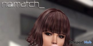 No Come On Hair August 2018 Group Gift by No Match - Teleport Hub - teleporthub.com