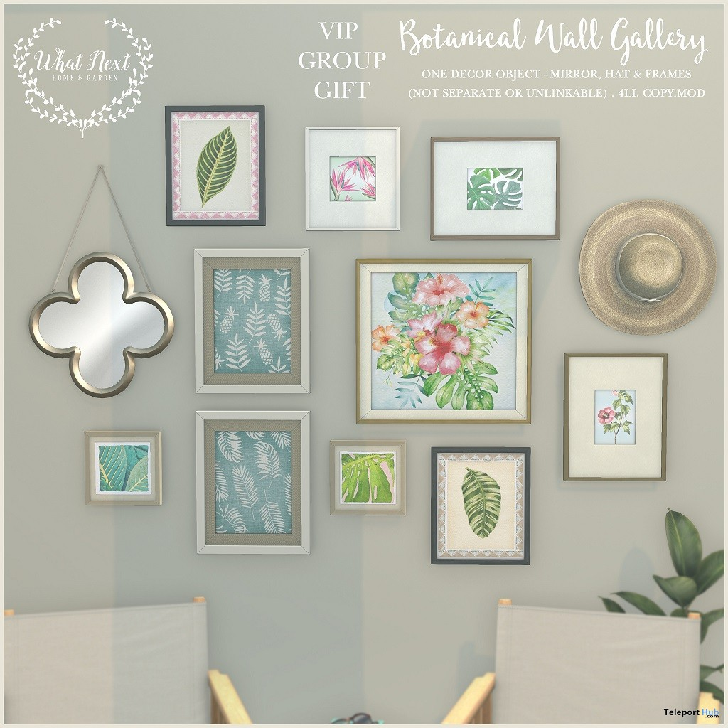 Botanical Wall Gallery August 2018 Group Gift By What Next