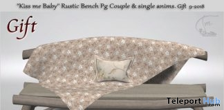 Kiss me Baby Rustic Bench August 2018 Group Gift by Tm Creation - Teleport Hub - teleporthub.com
