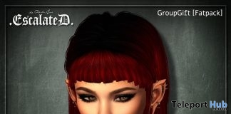Nova Hair Fatpack August 2018 Group Gift by EscalateD - Teleport Hub - teleporthub.com