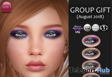 Oceania Eyeshadows Pack August 2018 Group Gift by Izzie's - Teleport Hub - teleporthub.com