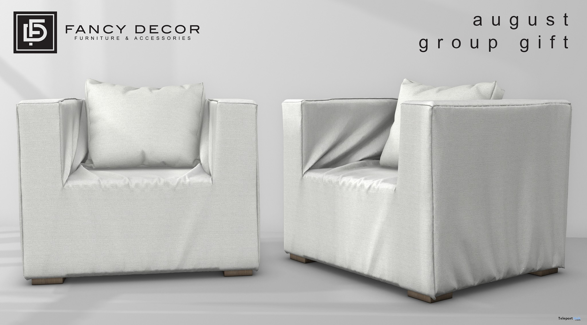 Slipcover Armchair August 2018 Group Gift by Fancy Decor - Teleport Hub - teleporthub.com