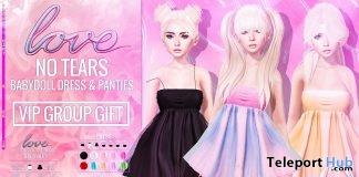 No Tears Babydoll Dress & Panties Set August 2018 Group Gift by Love - Teleport Hub - teleporthub.com